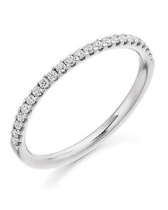 18ct White Gold 0.25ct Diamond Micro Claw Set Eternity Ring
