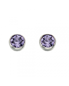 Beginnings Tanzanite Crystal Stud Earrings