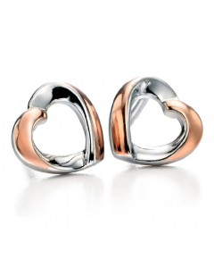 Fiorelli Heart Earrings With Rose Gold Plating