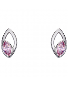 Fiorelli Silver and Pink Navette Earrings