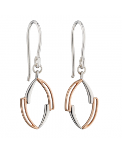 Fiorelli Asymmetric  Silver and Gold Plate Drop Earrings