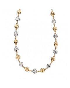 Elements Gold Organic Disc Necklace