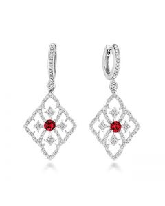 Tivon Versailles Ruby and Diamond Earrings