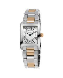 Frederique Constant Classics Carree Silver & Gold Ladies Watch