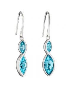 Fiorelli Aqua Crystal Drop Earrings