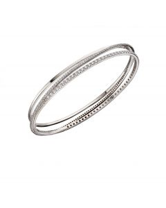 Fiorelli Silver Crossover Pave Bangle