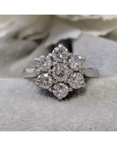 Pre-Owned 18ct White Gold Cluster Ring