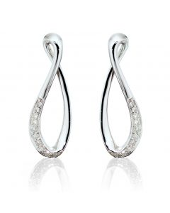 Fiorelli Gold Diamond Infinity Earrings