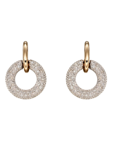 Elements Gold Round Diamond Earrings 9ct Yellow Gold