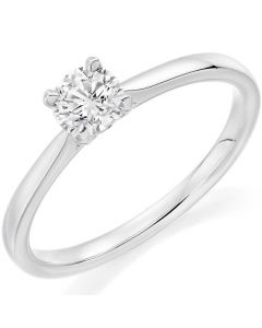 9ct White Gold 0.23ct Diamond Solitaire Engagement Ring