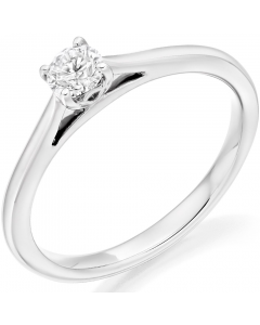 9ct White Gold 0.25ct Diamond Solitaire Engagement Ring