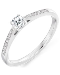 9ct White Gold 0.35ct Diamond Solitaire Engagement Ring