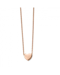 Elements Gold 9ct Rose Gold Heart Necklace