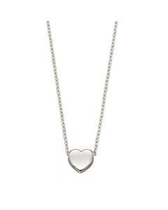 Elements Gold White Gold Heart Necklace