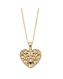 Elements Gold Heart Necklace