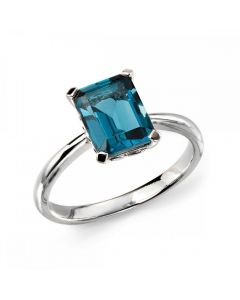 Elements Gold London Blue Topaz Ring