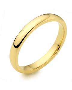9ct Yellow Gold 2.5mm Medium Court Wedding Ring By Charles Green