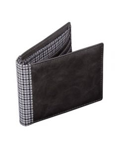 Grey and Check Wallet