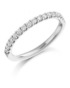 Platinum 0.33ct Diamond Eternity or Wedding Ring