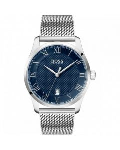 BOSS Watches Blue Dial Mesh Bracelet Men's Master Watch