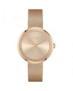BOSS Watches Ladies Rose Gold Mesh Praise Watch