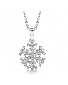 Jools By Jenny Brown Cubic Zirconia Snowflake