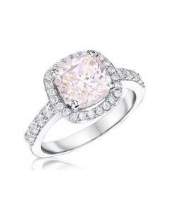 Jools By Jenny Brown Cushion Cut Pink Ring