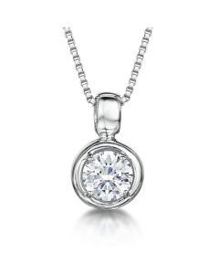 Jools By Jenny Brown Sterling Silver Pendant - 6mm Rubover Set