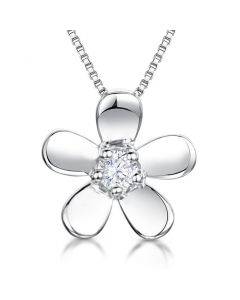 Jools By Jenny Brown Sterling Silver Flower Pendant