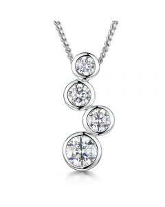 Jools By Jenny Brown Sterling Silver Boodles 4 Drop Pendant