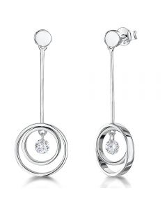 Jools By Jenny Brown Sterling Silver Circle Drop Earrings