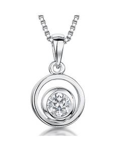 Jools By Jenny Brown Sterling Silver Circle Drop Pendant