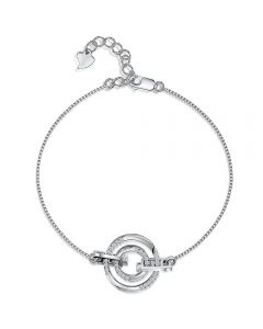 Jools By Jenny Brown Sterling Silver Bracelet with Cubic Zirconia Stone