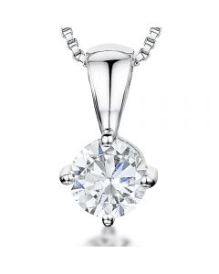 Jools By Jenny Brown Sterling Silver Offset Solitaire Pendant
