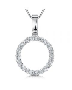 Jools By Jenny Brown Sterling Silver Open Circle Pendant