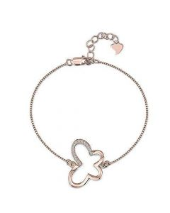Jools By Jenny Brown Rose Gold Chain Butterfly Bracelet