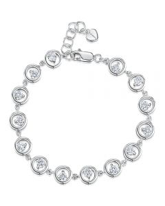 Jools by Jenny Brown Cubic Zirconia and Sterling Silver Bracelet