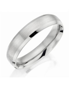 Charles Green palladium brushed wedding ring