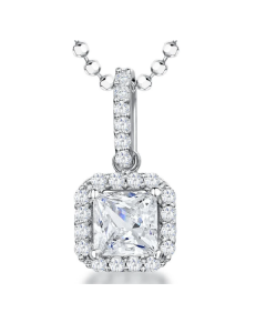 Jools by Jenny Brown Sterling Silver Halo Cubic Zirconia Necklace