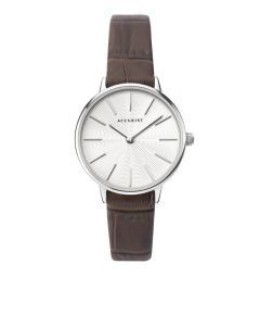 Accurist Ladies Contemporary Strap Watch with brown strap