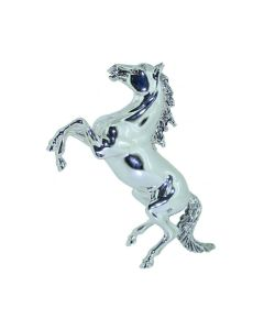 Saturno Large Rearing Silver Horse figurine