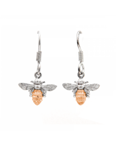 Lydia's Bees Rose Gold Drop Earrings