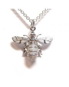 Lydia's Bees Silver Bee Necklace