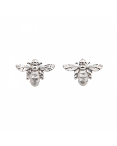 Lydia's Bees Silver Stud Earrings