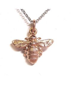 Lydia's Bees 9ct Rose Gold Mini Bee Pendant Necklace