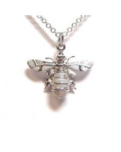 Lydia's Bees Silver Minibee Necklace