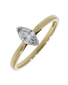 18ct Gold Marquise 0.40ct Diamond Ring