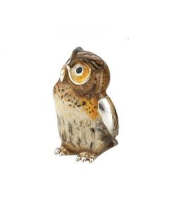 Saturno Medium Enamelled Owl figurine