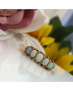 Pre-Owned Five Stone Opal 18ct Yellow Gold Ring