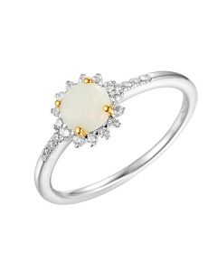 Amore Argento Silver Opal Shimmer Ring
